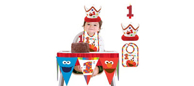 1st Birthday Elmo Smash Cake Kit
