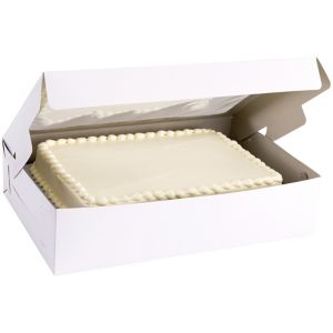 White Window Cake Box