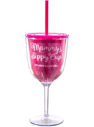 Baby Shower Mommy's Plastic Wine Glass
