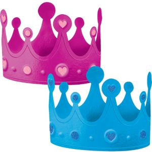 Girl or Boy Gender Reveal Crowns 2ct
