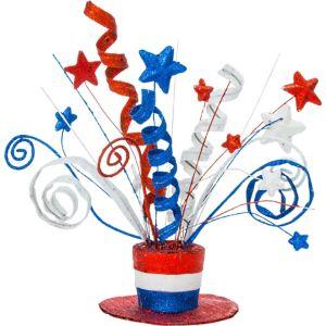 Glitter Uncle Sam Hat Centerpiece