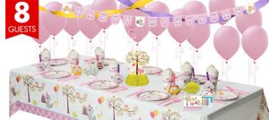 Girls Happi Woodland Party Supplies Super Party Kit