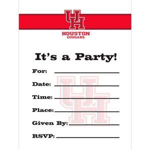 Houston Cougars Invitations 8ct