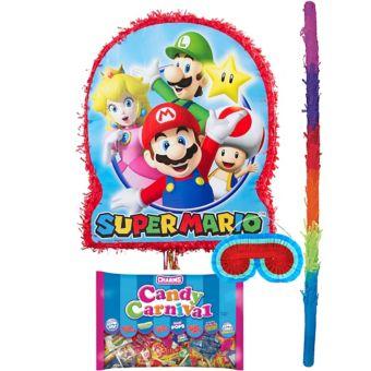 Pull String Super Mario Pinata Kit