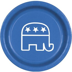 Blue Republican Lunch Plates 8ct