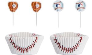 MLB Baseball Cupcake Decorating Kit for 24