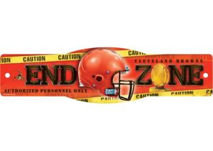 Cleveland Browns End Zone Sign