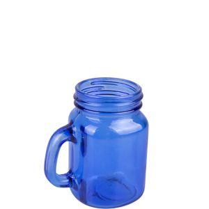 Royal Blue Mason Jar Shot Glass