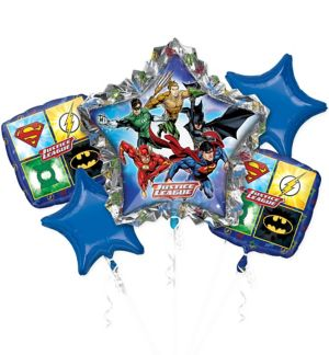 Justice League Balloon Bouquet 5pc
