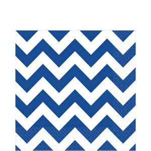 Royal Blue Chevron Lunch Napkins 16ct
