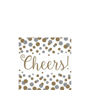 Bubbly Celebration Beverage Napkins 16ct