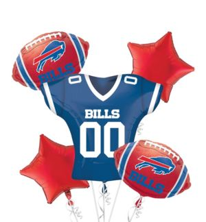 Buffalo Bills Jersey Balloon Bouquet 5pc