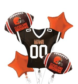 Cleveland Browns Jersey Balloon Bouquet 5pc