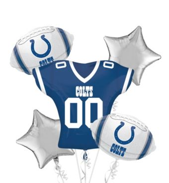Indianapolis Colts Jersey Balloon Bouquet 5pc