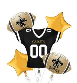 New Orleans Saints Jersey Balloon Bouquet 5pc