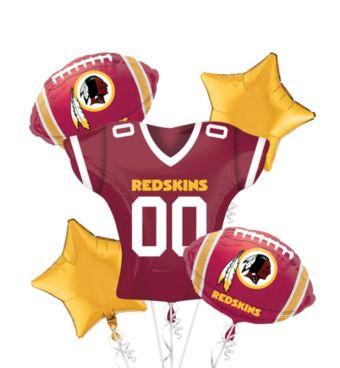 Washington Redskins Jersey Balloon Bouquet 5pc