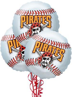 Pittsburgh Pirates Baseball Balloons 3ct