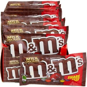 Milk Chocolate M&M's Sharing Size Pouches 24ct