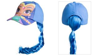Child Shine Baseball Hat with Ponytail - Shimmer and Shine