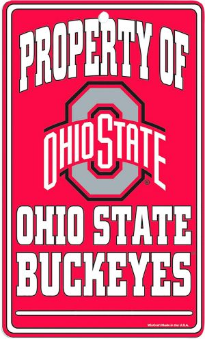 Property of Ohio State Buckeyes Sign