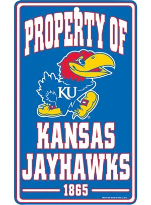 Property of Kansas Jayhawks Sign