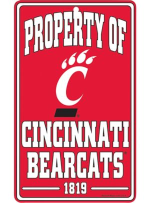 Property of Cincinnati Bearcats Sign