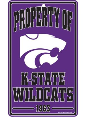 Property of Kansas State Wildcats Sign