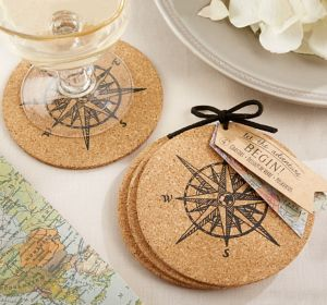 Vintage Compass Coasters