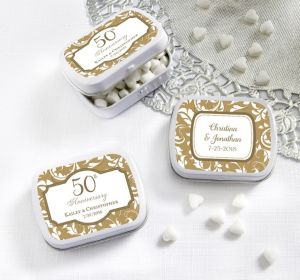 PERSONALIZED Wedding Mint Tins with Candy (Printed Label) (50th Anniversary)
