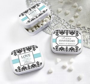 PERSONALIZED Wedding Mint Tins with Candy (Printed Label) (Always & Forever)