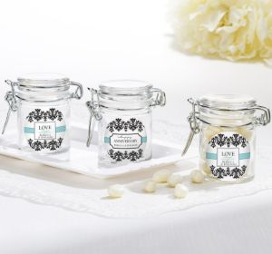 PERSONALIZED Wedding Small Glass Jars (Printed Label) (Always & Forever)