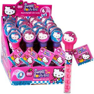 Hello Kitty Bounce Ball Candy Dispensers 24ct