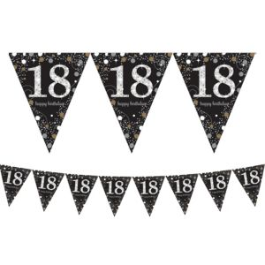 Prismatic 18th Birthday Pennant Banner - Sparkling Celebration
