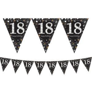 Prismatic 18th Birthday Pennant Banner - Sparkling Celebration