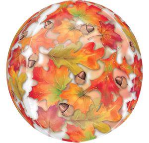 Harvest Leaf Balloon - See Thru Orbz