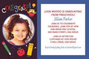 Custom Schoolhouse Chalkboard Graduation Photo Invitation