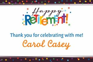 Custom Happy Retirement Celebration Thank You Note