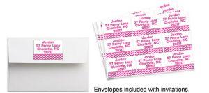 Custom Kids Bright Pink Chevron Sticker