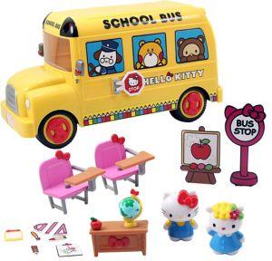 Hello Kitty School Bus Playset 18pc