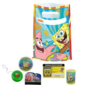 Sponge Bob Basic Favor Kit for 8 Guests