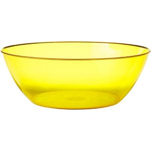 Yellow Plastic Swirl Bowl