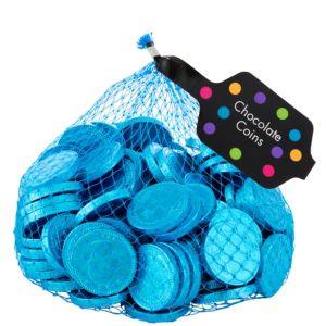 Small Caribbean Blue Chocolate Coins 125pc