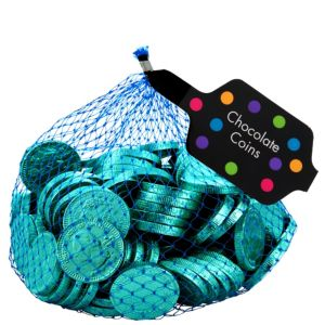 Small Robin's Egg Blue Chocolate Coins 125pc