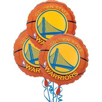 Golden State Warriors Balloons 3ct - Basketball