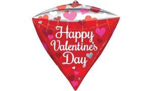Happy Valentine's Day Balloon - Diamondz