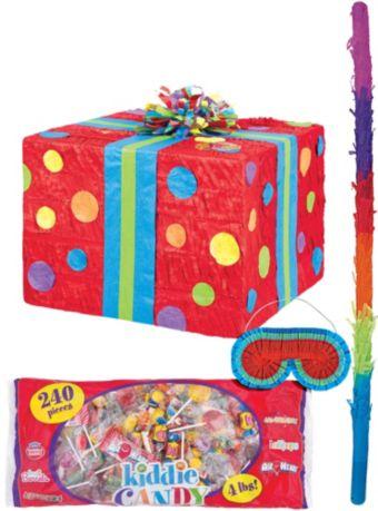 Polka Dot Present Pinata Kit