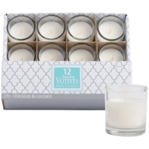 White Votive Candles 12ct