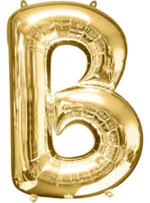 Giant Gold Letter B Balloon