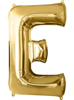Giant Gold Letter E Balloon