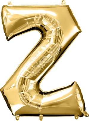 Giant Gold Letter Z Balloon